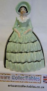 Carlton Ware Crinoline Lady Pepper Pot Figurine - 1930s